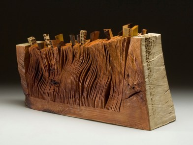 """20"""" x 12"""" x 7"""" Madrone Burl, various woods '09"""