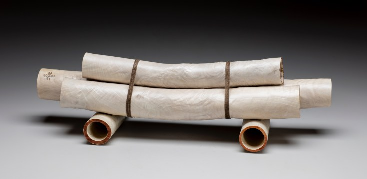 """24"""" x 8"""" x 7"""" Bleached Madrone Root, Linen Thread '16"""