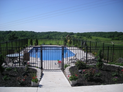 Image Result For Black Aluminum Fence Around Pool
