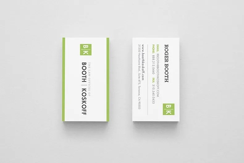 Booth & Koskoff Business Cards 2