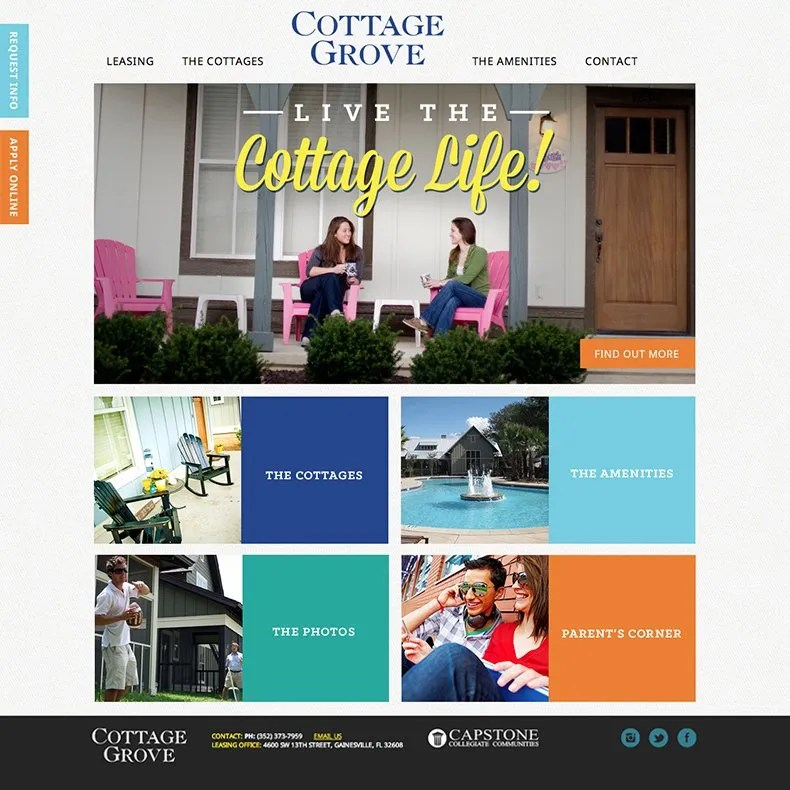 Florida Cottage Website Design