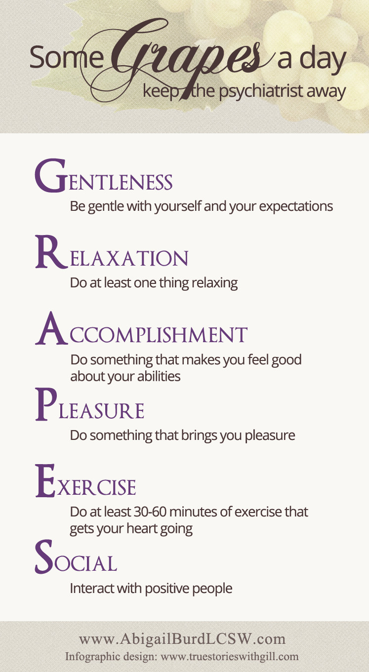 Grapes Self-Care Infographic