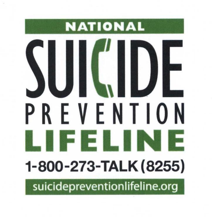 suicide is preventable 800-273-8255