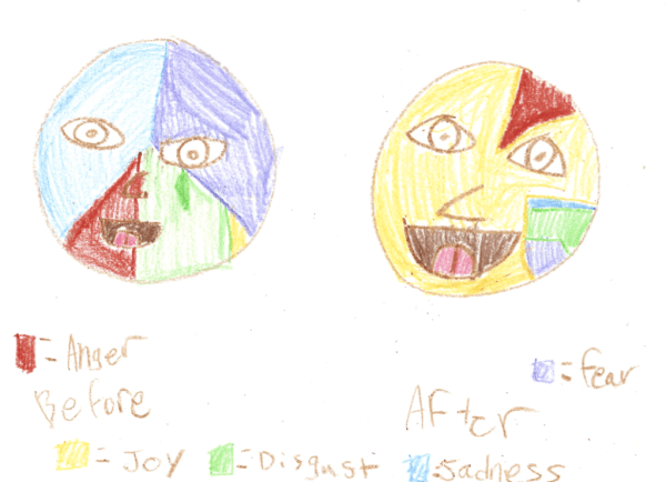 Emotion Pie Chart Faces Inspired by Inside Out