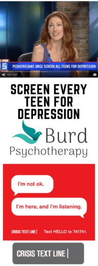 Screen Every Teen for Depression [Pinterest] - San Diego Teen Therapist Abigail Burd explains why and the one thing you NEED TO SAVE ON YOUR PHONE NOW