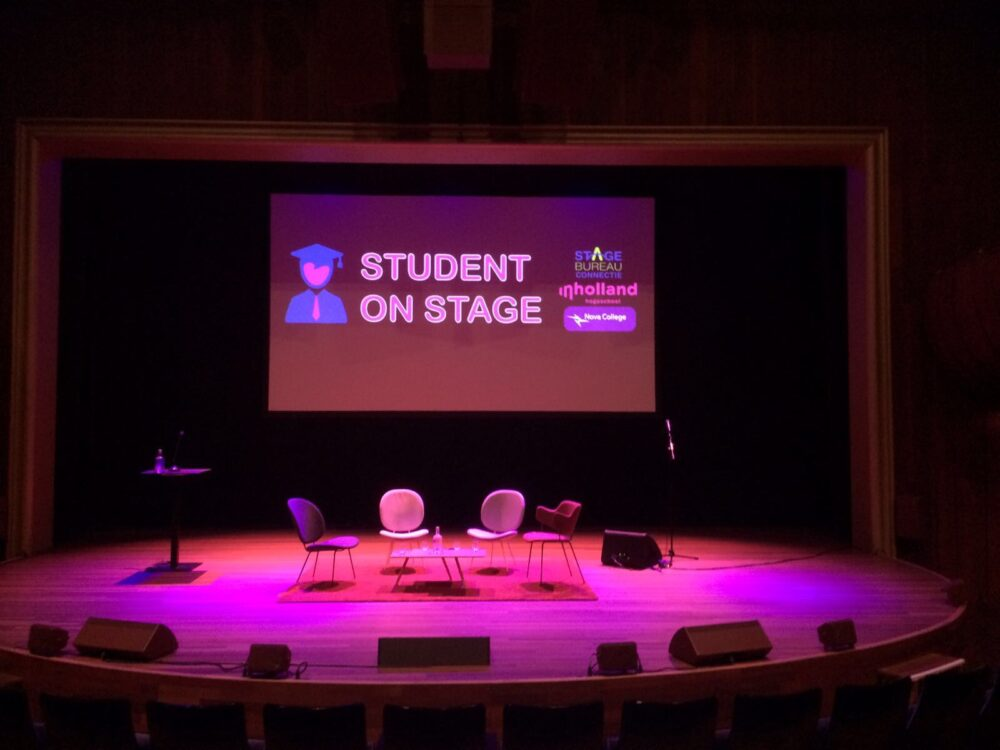Bureau Brand student on stage