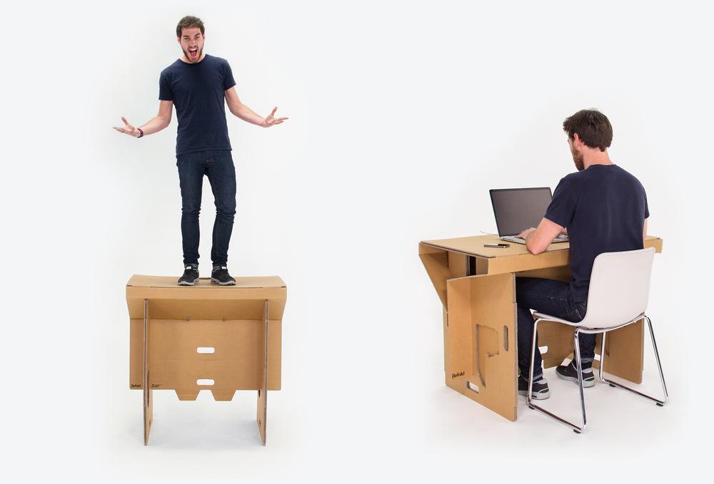 le bureau debout pliable et leger