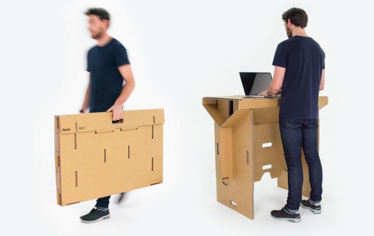 vous avez sans doute constate que le mobilier de bureau est lourd et cher or on a parfois pas necessairement une piece dediee pour travailler