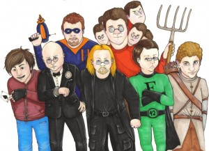 Clockwise, from center: Dave, Timeshredder, AceCaseOR, Hitch, theangrymob, Eldhrin, and Fiziko. Thanks to S. Henderson!