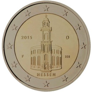 2 euros commémorative de la Hesse Allemagne