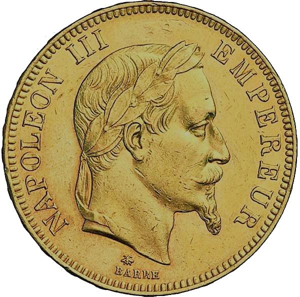 100 Francs or Napoléon 3 quadruple louis d'or
