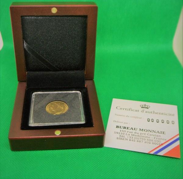 Boite 20 francs or napoléon