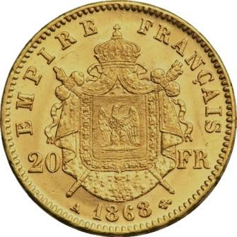 Napoléon III 20 francs en or