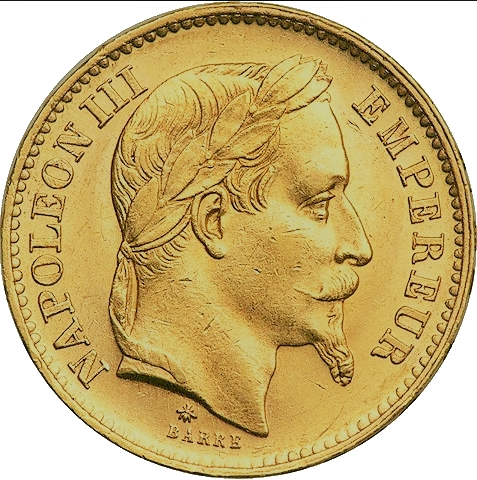20 Francs or Napoléon III louis d'or