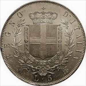 5 lires victor emmanuel II de Savoie Roi d'Italie