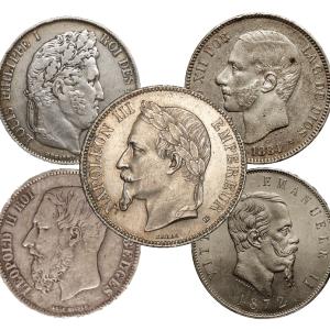 Collection pièces en argent union latine