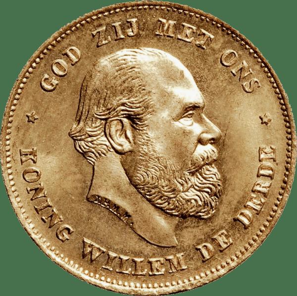 Willem III, Guillaume III roi des Pays-bas 10 gulden en or florins