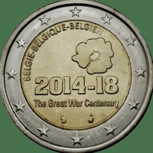 2 euros comemorative belgique 14 18