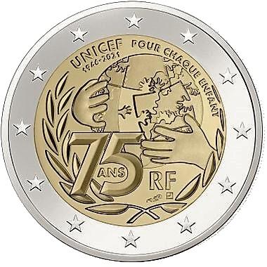 2 euros UNICEF 2021 FRANCE
