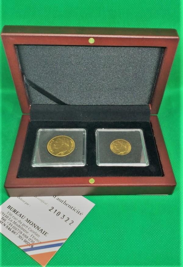 Coffret or napoléon 1er 20 et 40 francs