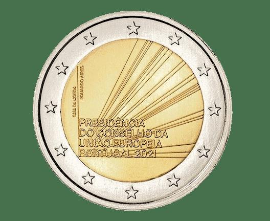 2 euros commémorative Portugal présidence de l'Union Européenne