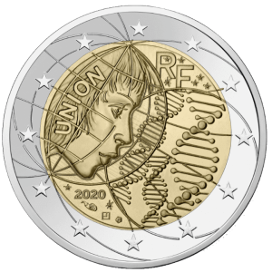 2 euros commémorative recherche médicale merci France 2021