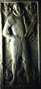 Grabstein des Tham Pflugk, heute in der Burgkirche Posterstein