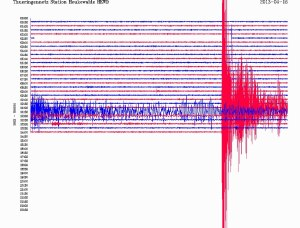 Iran earth quake from April 16th 2013 as documented in Heukewalde