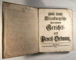 Gerichts- und Prozessordnung, Altenburg 1744 (Museum Burg Posterstein)