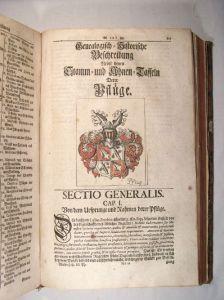 Genealogische Adelshistorie - Abschnitt Familie Pflugk (Museum Burg Posterstein)