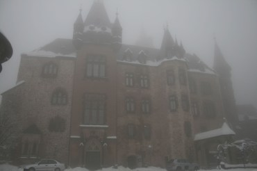 Schloss Wernigerode im Nebel