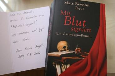 Mit Blut signiert – ein Caravaggio-Roman