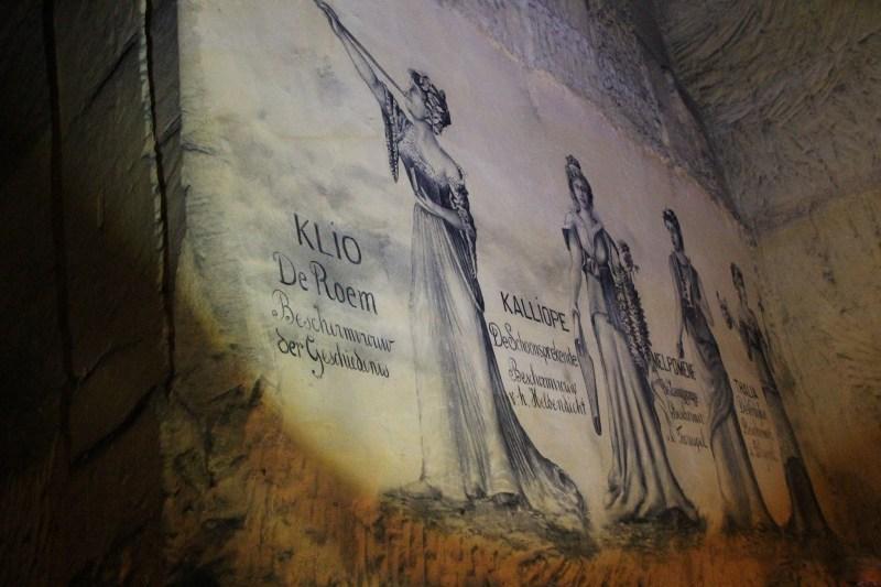 Maastricht unterirdische Gänge Salon der Musen