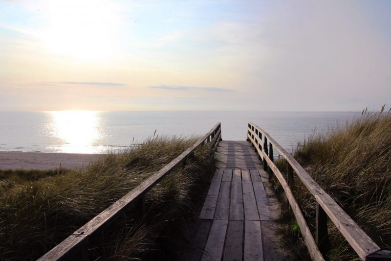 Sonnenuntergang am Strand, Sylt