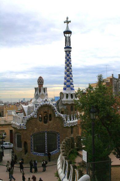 Park Güell in Barcelona, Spanien, Haus von Antoni Gaudi