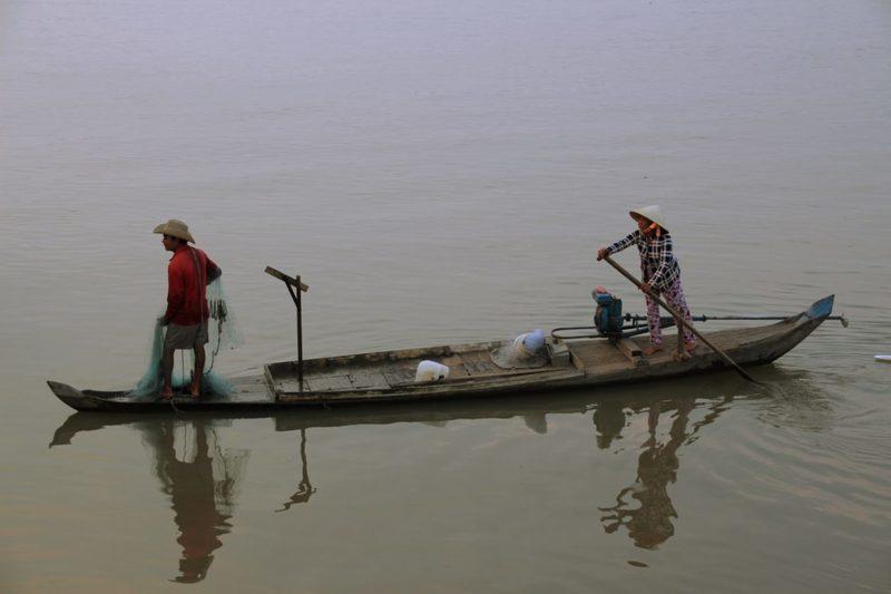 Fischer in Phnom Penh, Fluss Mekong