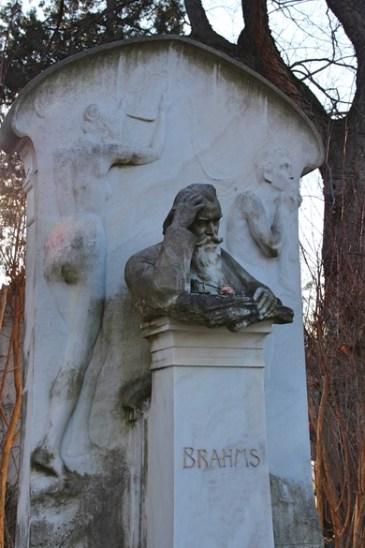 Grab von Johannes Brahms auf dem Zentralfriedhof in Wien