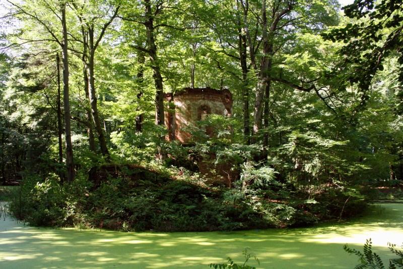 Schloss in Pokoj, Schloss in Schlesien, Bad Carlsruhe, Schlossruine bei Oppeln