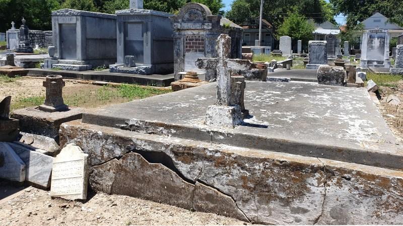 unbekannter Friedhof von New Orleans, verfallener Friedhof von New Orleans