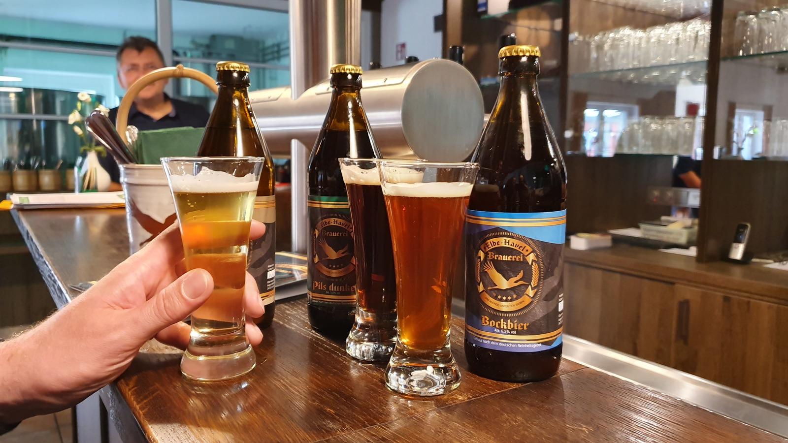 Bierprobe in der Craft-Bier-Brauerei Elb-Havel-Brauerei
