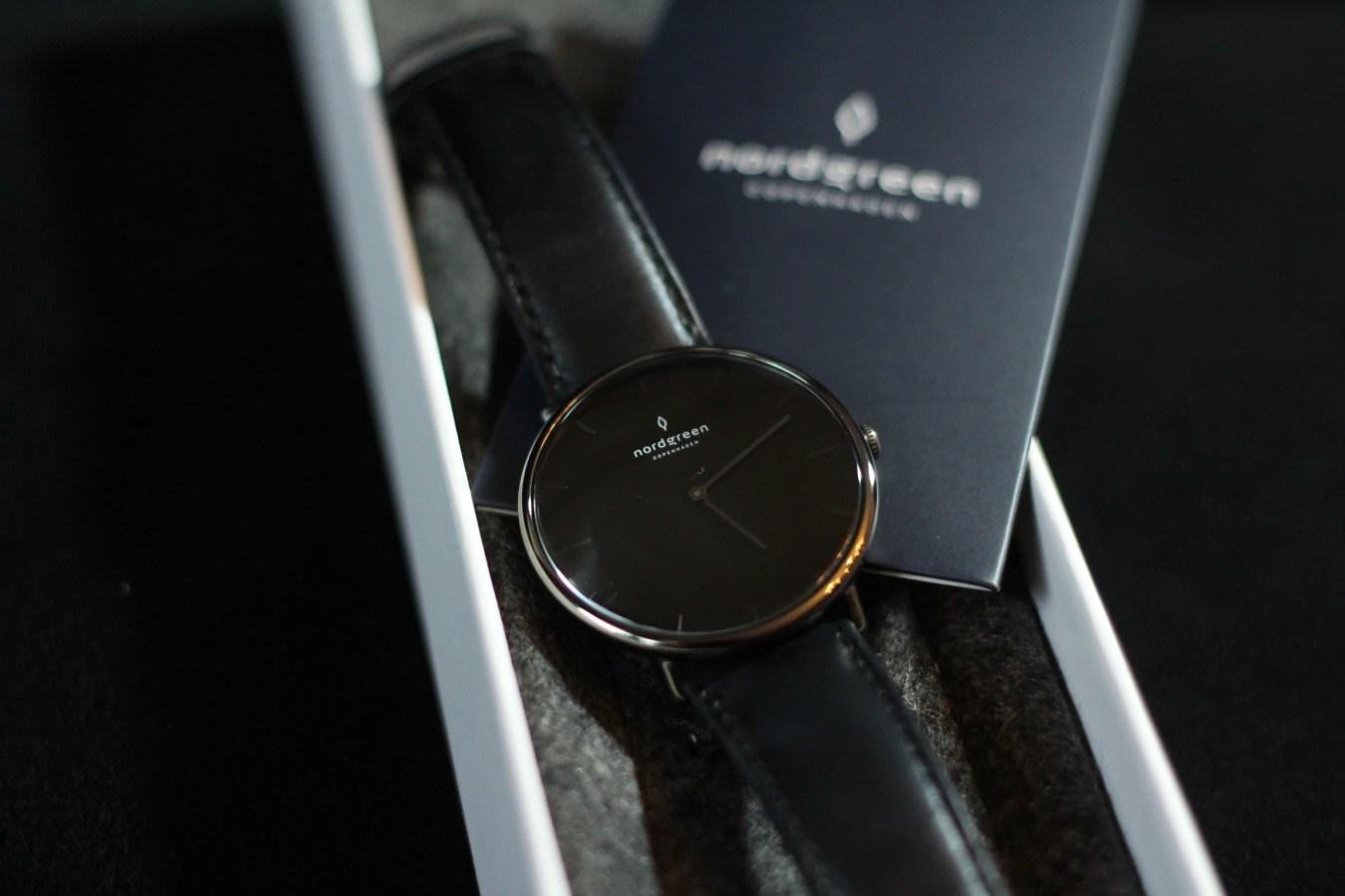 Nordgreen Uhr, Uhr im dänischen Design, Uhr im skandinavischen Design, schwarze Uhr, Klassische Uhr