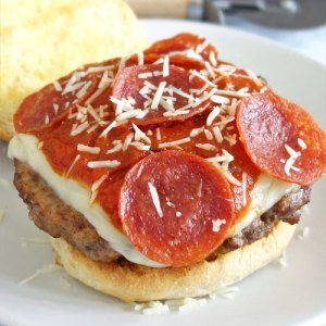 Pizza burger recipe