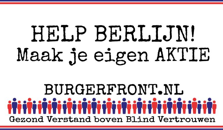 Help BERLIJN! Maak je eigen AKTIE! Materiaal beschikbaar!