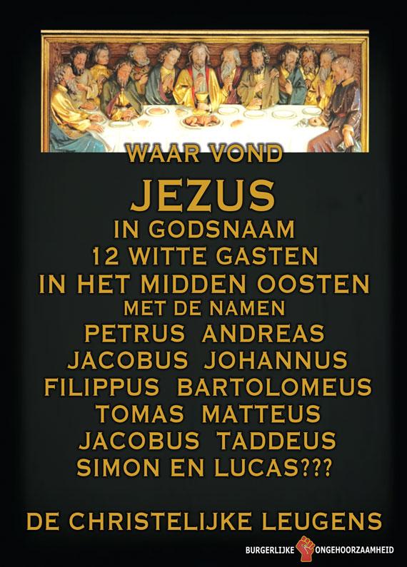Waar haalde Jezus 12 witte gasten vandaan met Romeinse namen - Burgerlijke Ongehoorzaamheid