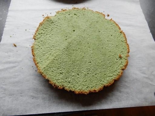 Kersttaart, lekker dessert of toetje. Green velvet cake