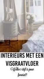 interieur met een visgraat vloer