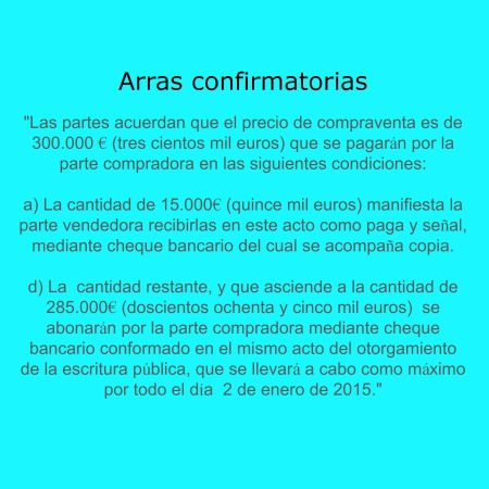 arras confirmatorias