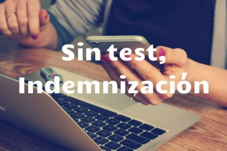 sin test indemnizacion