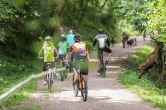 Radfahren im Biotop Castelfeder