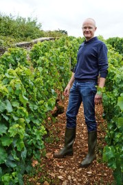 Frederic Weber in Chevalier-Montrachet La Cabotte but the photographer is standing in Montrachet...